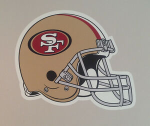 """San Francisco 49ers FATHEAD Official Team Helmet Graphic 23""""x16"""" NFL Wall Decal"""