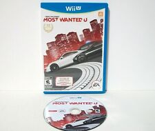 Need for Speed Most Wanted U (Nintendo Wii U) Game & Case Car Racing Disc Tested