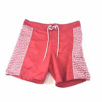 Eddie Bauer Mens Shorts Red Swim Trunks Board Shorts Size S Small #938