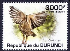 Eurasian Scops Owl, Birds of Prey, Burundi 2011 MNH