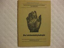 Volkspolizei, Die Leichendaktyloskopie, Fachschule des MdI Aschersleben Krimin.
