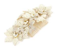 Perle Kopfschmuck Strass Braut Abendkleid Haarkamm Kristall Hochzeit
