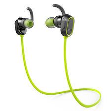Anker SoundBuds Bluetooth Wireless Splashproof Sport Headphones Green
