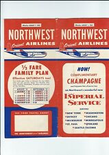 Northwest Orient Airlines   August 1 1957  Timetable Stratocruiser image