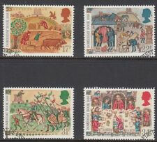 GB Stamps 1986, 900th Anniv of Domesday Book, set of 4 Very Fine Used from FDC