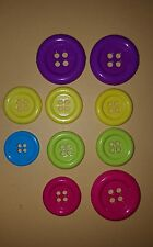 10 BIG BRIGHT BEUTRON BUTTONS VGC