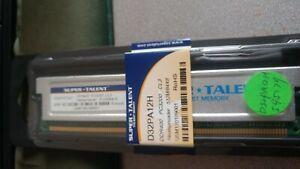 Super Talent D32PA12H memory DDR400 PC3200 CL3 Heatspreader 512m/64x8 USM1201090