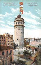 CONSTANTINOPLE, TURKEY ~ GALATA TOWER & SURROUNDINGS ~ c. 1904-14