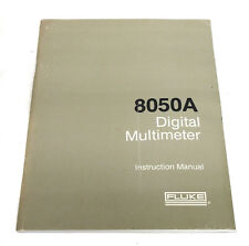 Fluke 8050A Digital Multimeter Instruction Manual, Operation & Service
