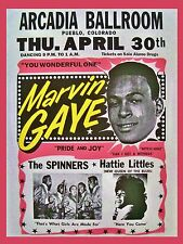 """Marvin Gaye Arcadia 16"""" x 12"""" Photo Repro Concert Poster"""