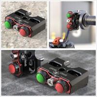 Motorcycle Dual Self-Locking Reset Switch Light Speaker Push Button Motor Switch