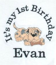 Personalized PUPPY DOG w/ Bone Boy or Girl Name or Birthday T Shirt