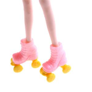 2pair Roller Skate Fancy Doll Shoes Toys for Girls Christmas Decorat  bk