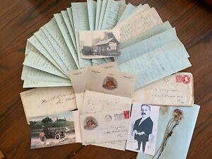 1910 Handwritten Letters Diary Manuscript Alaska Trip Private Boat Hughson RARE