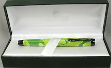 Monteverde Intima Neon Green Swirl Fountain Pen In Box - Fine Nib -New 50% OFF
