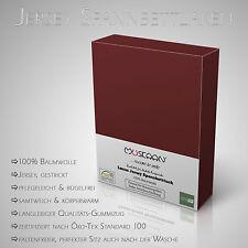Luxus Jersey Spannbetttuch / Spannbettlaken 100x200cm / 160x200cm / 200x200cm