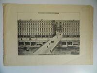 Antik Gravur Karte Architektenlampe Transformation Hafen von L'Arsenal Becken