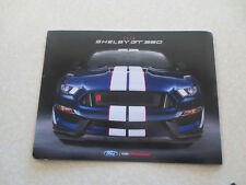 2018 U.S. Ford Shelby GT 350 advertising brochure