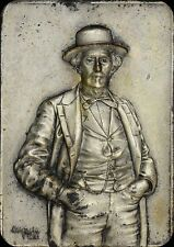 A SCARCE BARTOLOME MITRE 1821-1906 PLAQUE BY BELLAGAMBA & ROSSI JUAN CANTER TONE