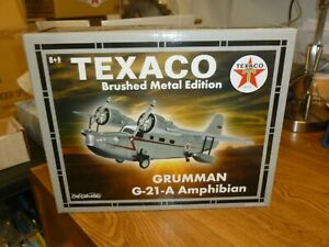 SPECIAL BRUSHED METAL Wings of Texaco GRUMMAN G-21-A AMPHIBIAN Diecast Airplane