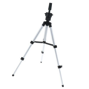 """11""""-21"""" Foldable Mannequin Head Tripod Wig Holder for Hairdressing Training"""