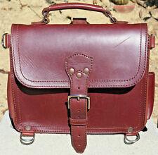 Saddleback Leather Previous Style MEDIUM SATCHEL Chestnut w Smooth Dark Pigskin