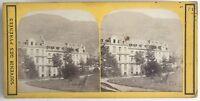 Souvenir Dei Pyrenees Stabilimento Termale N1 Foto Stereo Vintage Albumina