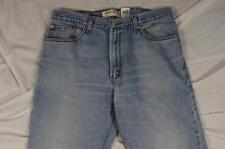 Levi 505 Straight Leg Regular Fit Faded Denim Jeans Tag 38x32 Measure 36x30