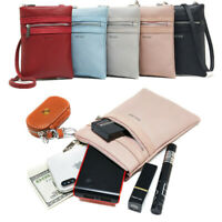Women Small Crossbody Bag Leather Wallet Cards Purse Phone Comestic Shoulder Bag