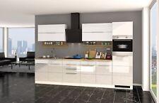 Küchenzeile mit Elektrogeräten Einbauküche mit Geräten 320 cm hochglanz weiss