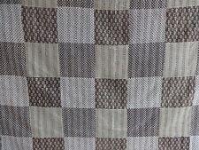 Queen Indian Handmade Patch Work Kantha Quilt Cotton Block Print Bedspread Throw