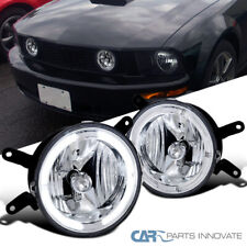 For Ford 05-09 Mustang GT Clear Lens Halo Fog Lights Driving Bumper Lamps Pair