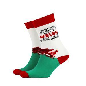 Womens Welsh Cymru Funny Novelty BAMBOO Gift Socks | Sock Therapy