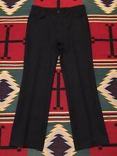 Vtg Levi's 517 Sta-Prest Pants 38x31 Black Polyester Made in USA!!! 7775