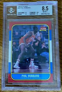 Phil Hubbard 1986 Fleer NEAR MINT - MINT + BGS 8.5 Beckett #48 Cavs Forward
