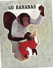 GO BANANAS vintage 70s iron on t shirt transfer full size NOS