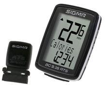 Sigma Fahrradcomputer Funk BC 9.16 ATS kabellos Tacho Digital wireless