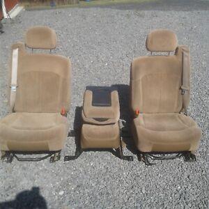 Chevy GMC Silverado Tahoe Suburban Front Row Seats 1999 2000 2001 2002 Tan Brown