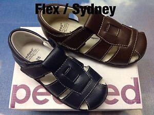 Pediped Flex Sydney V Leather Fisherman Sandal Size 24-30/US Toddler 8 to Kid 13