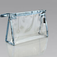 PVC Clear Transparent Case Cosmetic Make Up Bag Toiletry Travel Zipper LJ