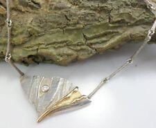 hübsches Collier Halskette mit Anhänger in 925 Silber