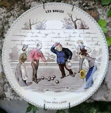 Pétanque & Jeu de Boules Faïence de Sarreguemines Assiette n°6