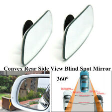 2PCS 360°Wide Angle Convex Auto Rear Side View Blind Spot Mirror Kit For Car SUV