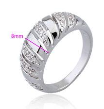 18ct 18k white gold filled GF CZ wedding ring woman Sz7 R-A290