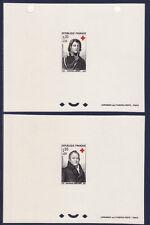 épreuve de luxe  paire croix rouge  de  1964   num: 1433/34