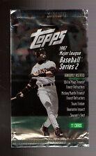 Lot of 2 San Francisco Giants Baseball Card Wrappers - Barry Bonds JT Snow Alou