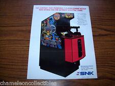 MECHANIZED ATTACK SNK 1989 ORIG VIDEO ARCADE GAME MACHINE SALES FLYER BROCHURE