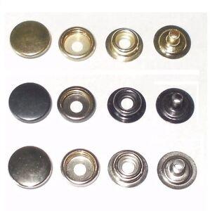 15MM PRESS STUDS HEAVY DUTY STEEL snap fasteners button poppers