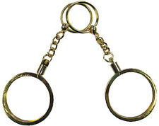 Key Chain 2 Gold Color For Poker or Casino CHIP HOLDER NEW Brass Free Shipping*