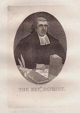 JOHN KAY original antique Gravure. Rev. Dr Thomas Hardie, ministre de..., 1782